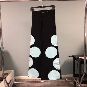 Black and Blue Polka Dot Yoga Pants